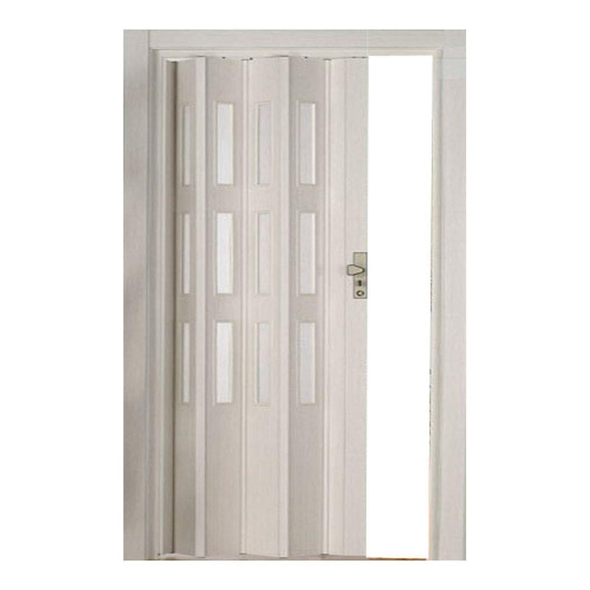 Дверь раздвижная остеклённая Белая