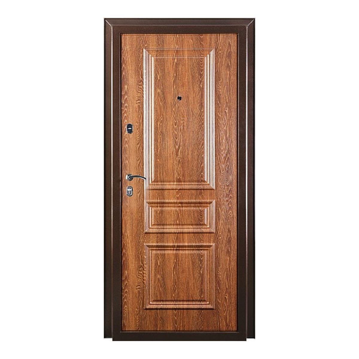 Дверь металлическая Прима 2066*880 правая дуб коньяк