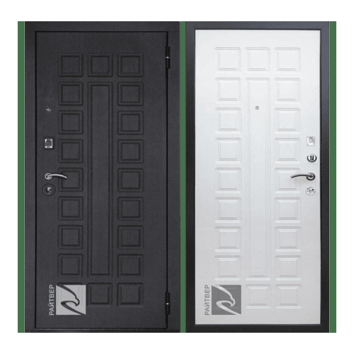 Дверь стальная правая Сенатор лайф беленый дуб 860*2050