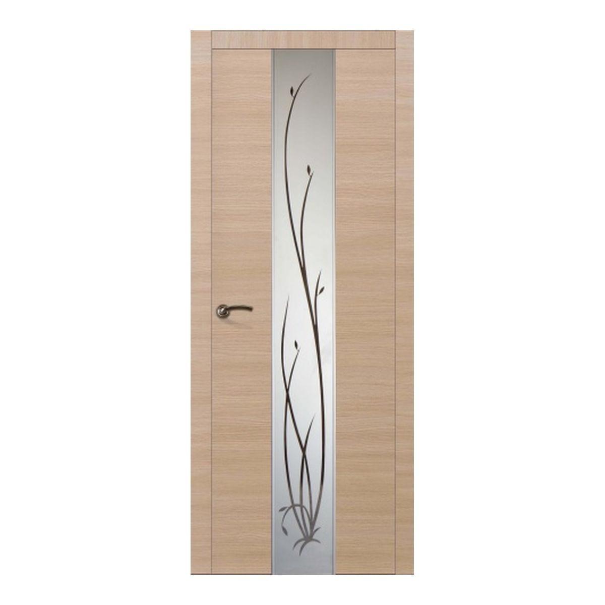 Дверное полотно Соммер 705Ш остекленное (600*2000) дуб неаполь