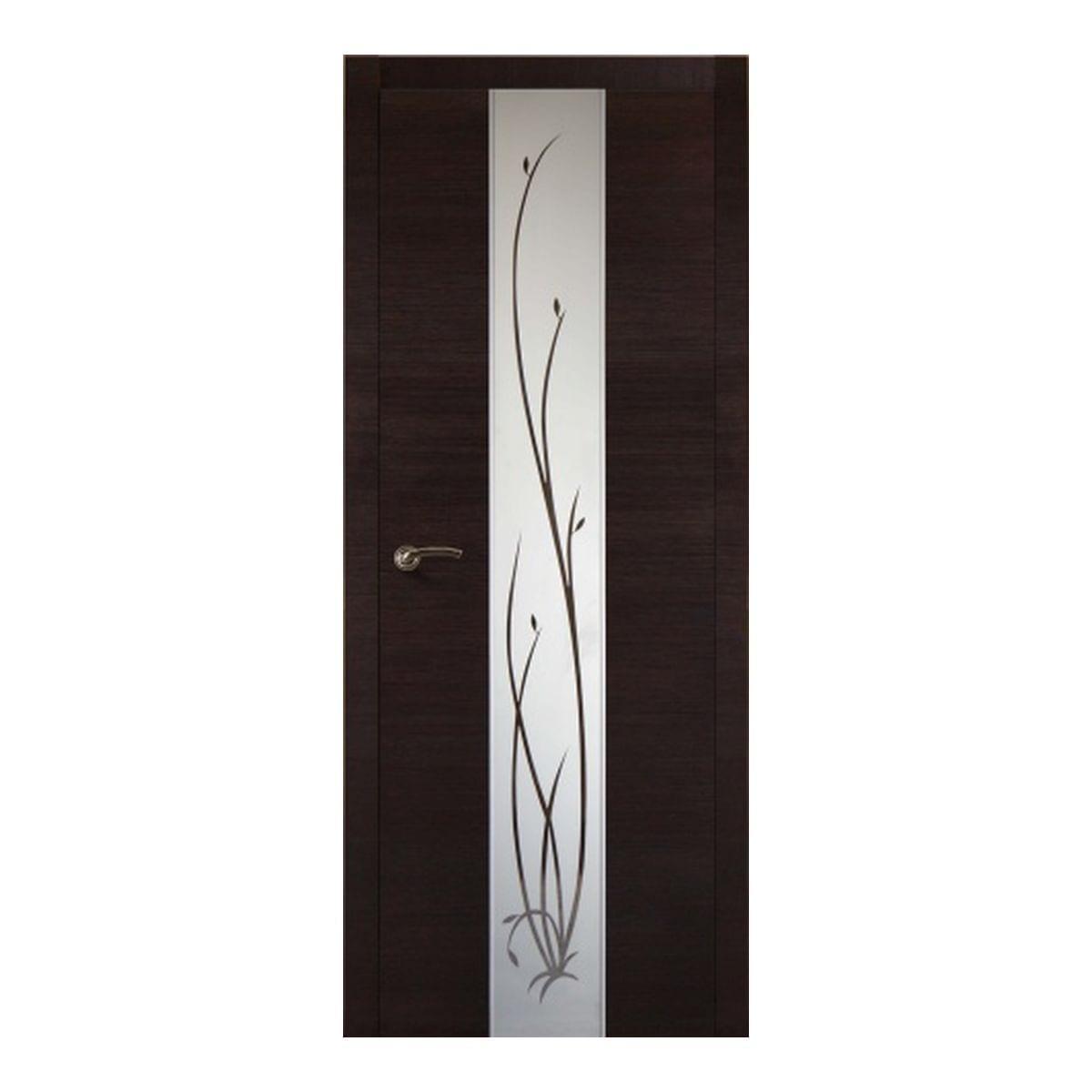 Дверное полотно Соммер 706Ш остекленное (700*2000) мокко
