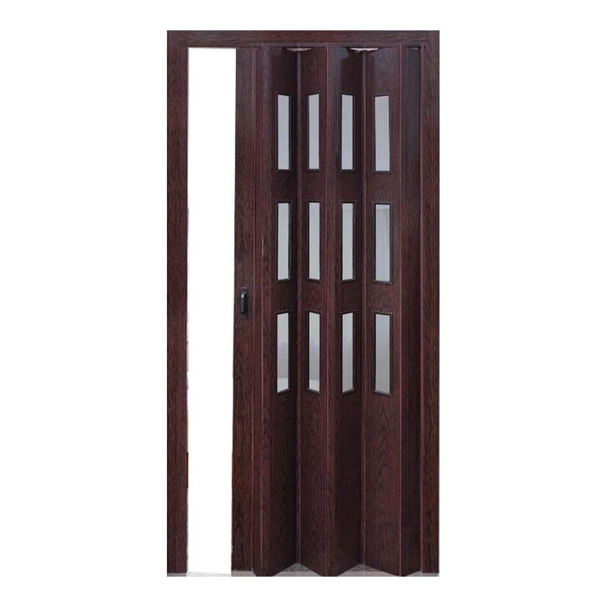 Дверь раздвижная остеклённая Венге
