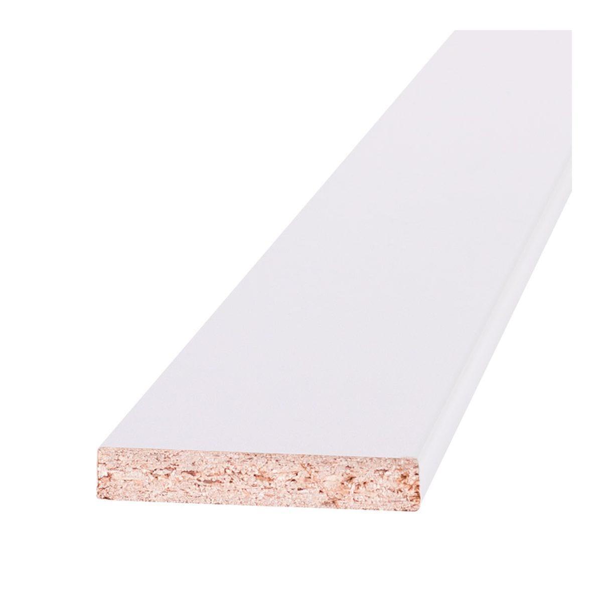 Наличник 58*10*2200мм бел.ламинированный