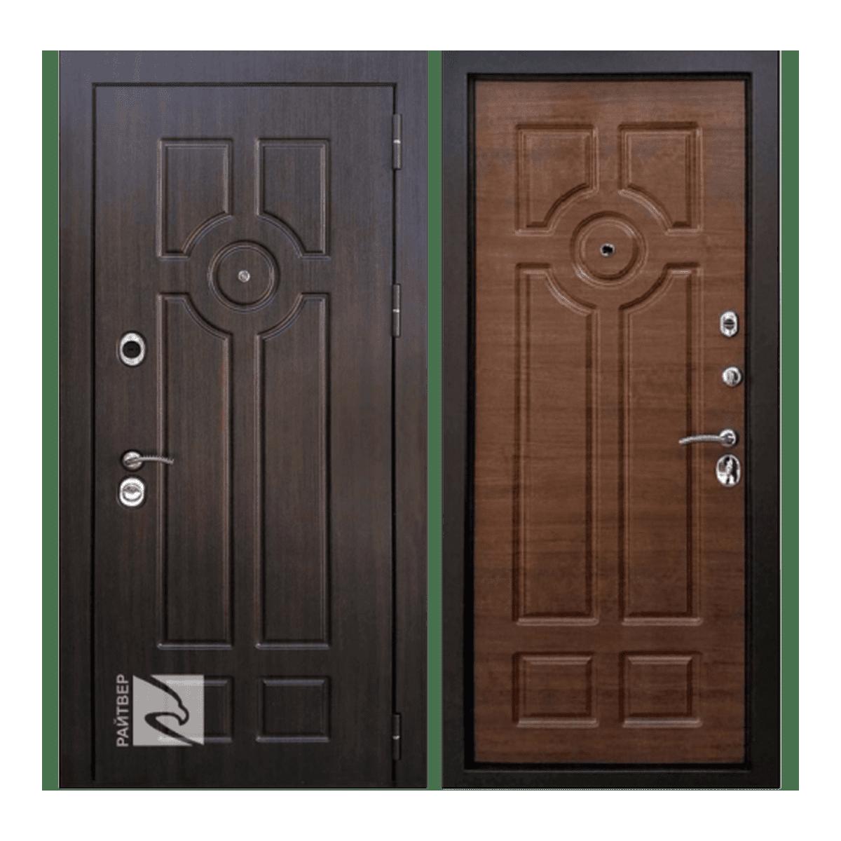 Дверь стальная левая Райтвер Дипломат амер.орех 860*2050