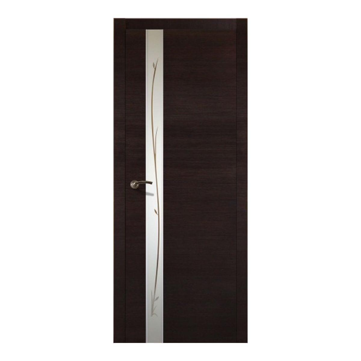 Дверное полотно Соммер 706У остекленное (800*2000) мокко
