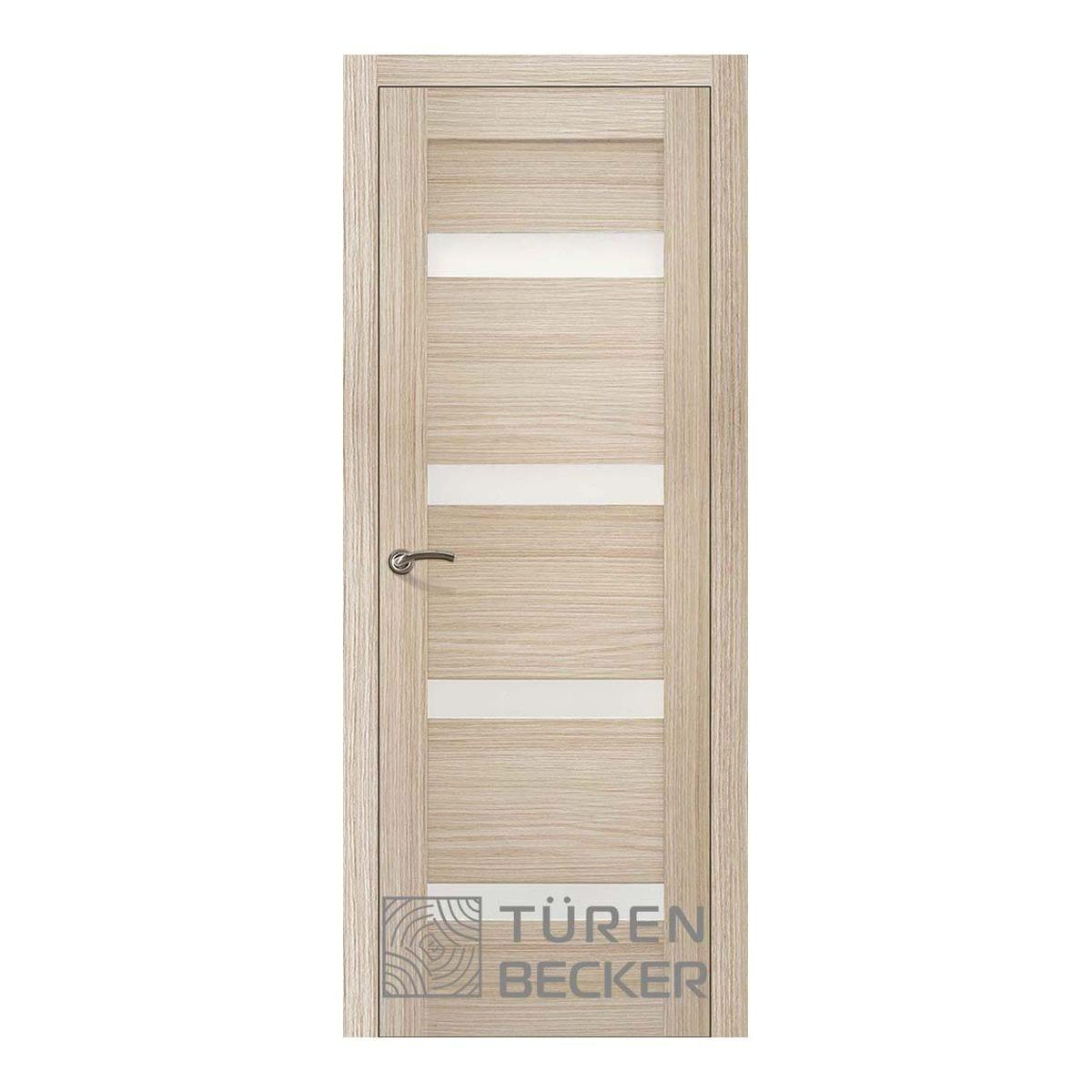 Дверное полотно Turen Becker Тора 700*2000мм ПО Life (4 стекла), 13.0.11, цвет Капучино