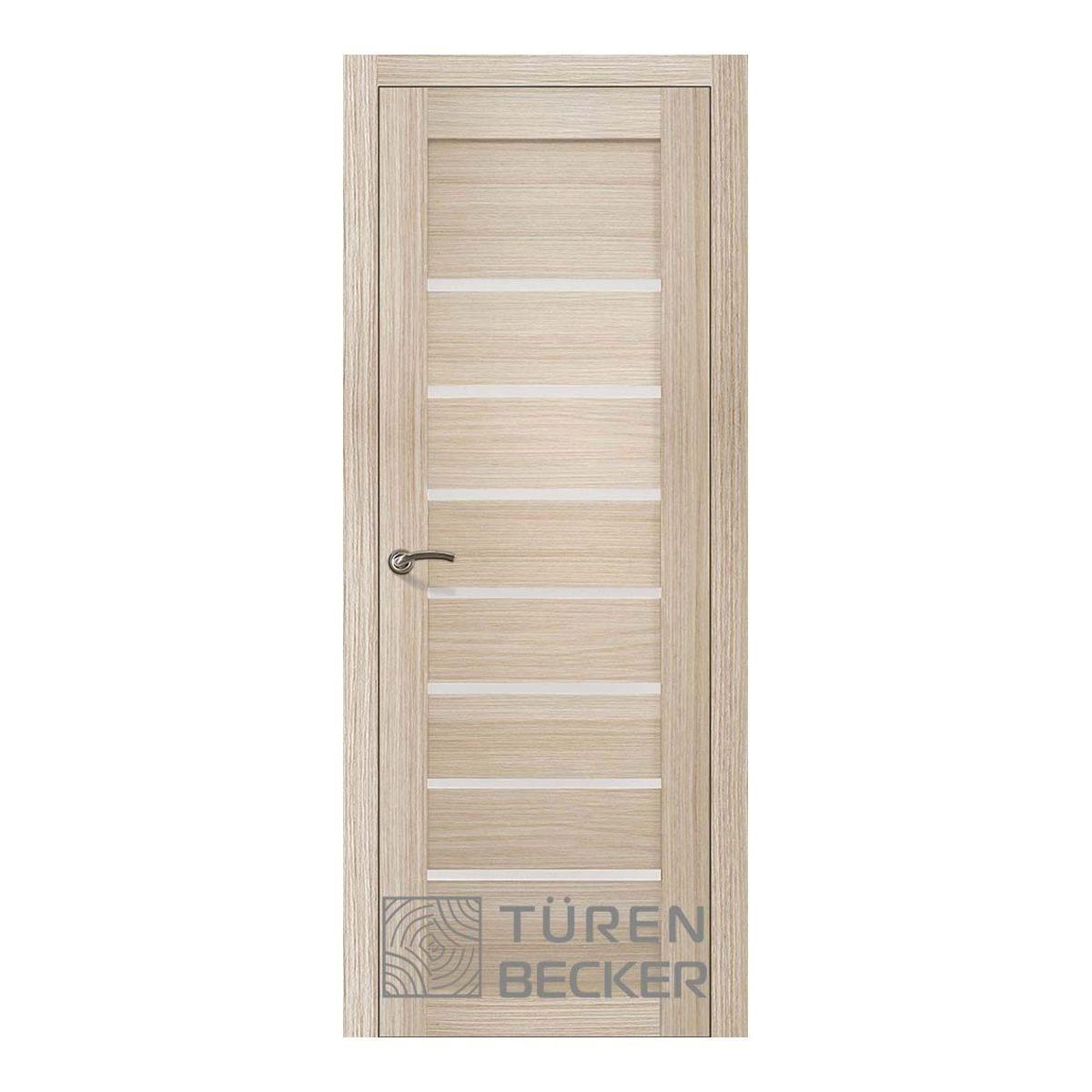 Дверное полотно Turen Becker Мета 600*2000мм ПО Life (7 стекол), 12.0.11, цвет Капучино