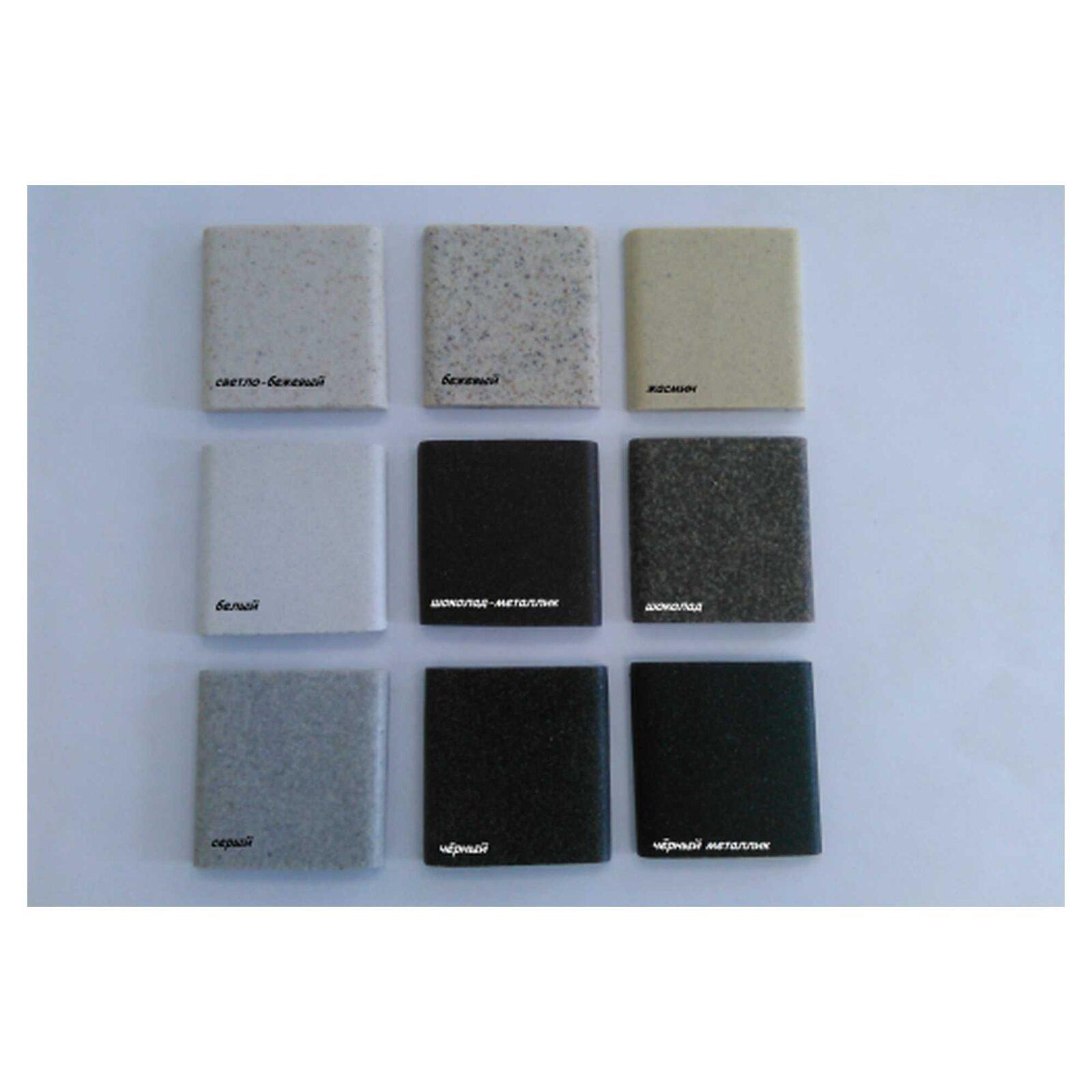 Мойка из гранитной крошки+кварц L-07 чёрный металл