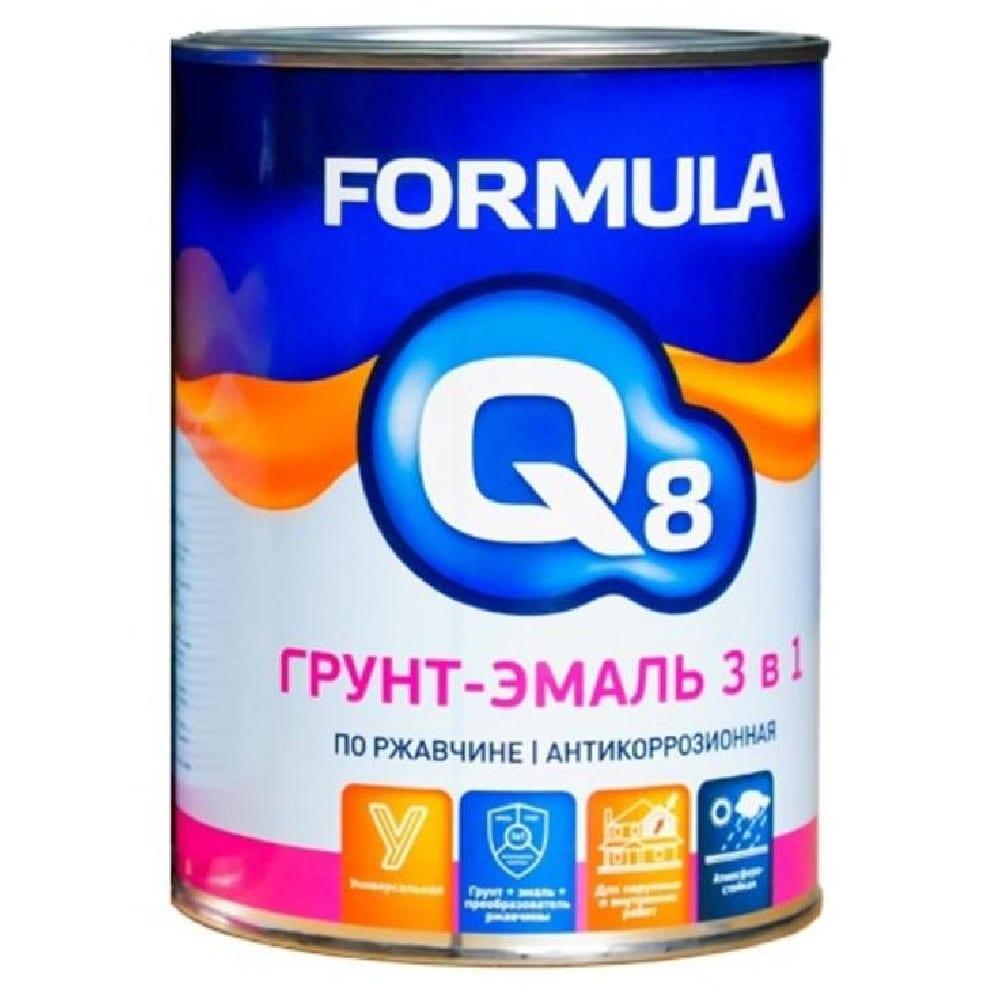 Грунт-эмаль по ржав.ЗЕЛЁНАЯ 0,9кг Formula Q8
