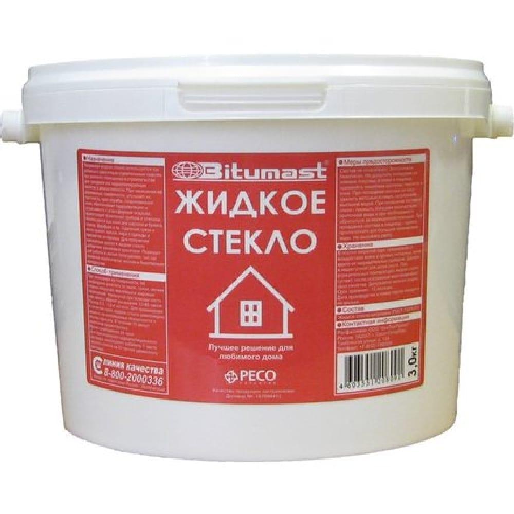 Жидкое стекло Bitumast натриевое 7 кг