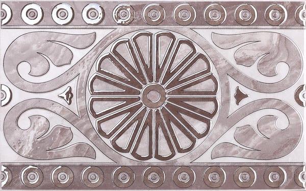 Декор Капелла лиловый 25*40