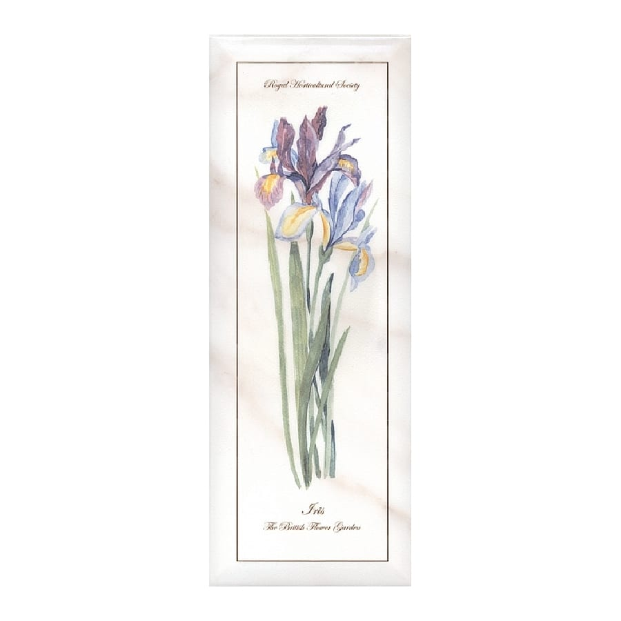 Декор Ноттингем Цветы грань A84 15*40