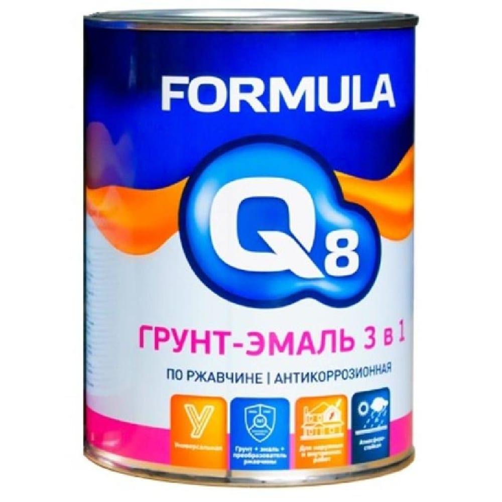 Грунт-эмаль по ржав.Красная 1.9кг Formula Q8