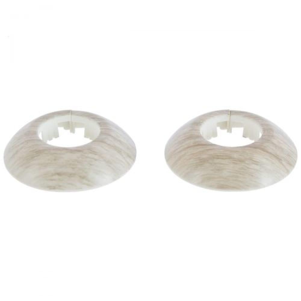Розетка для труб Янтарный серый 23мм (2шт)