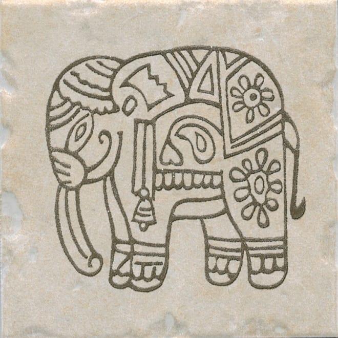 Декор Каламкари беж слон 9,9*9,9