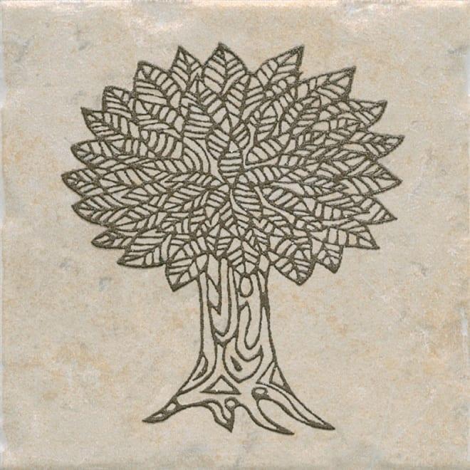 Декор Каламкари беж дерево 9,9*9,9