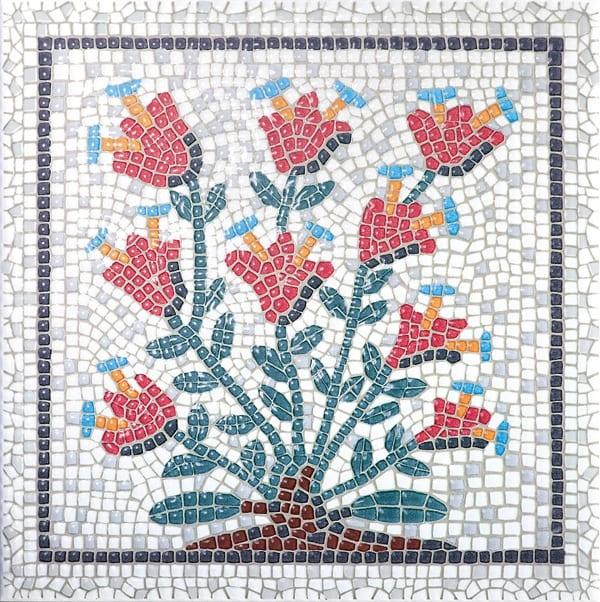 Декор Равенна цветы 20*20