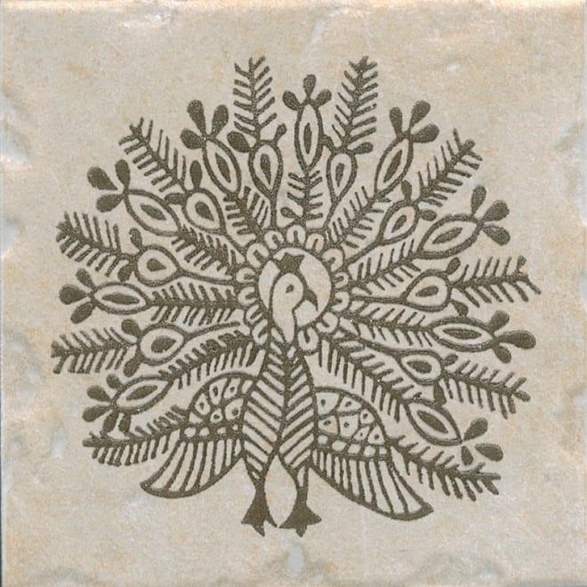 Декор Каламкари беж павлин 9,9*9,9