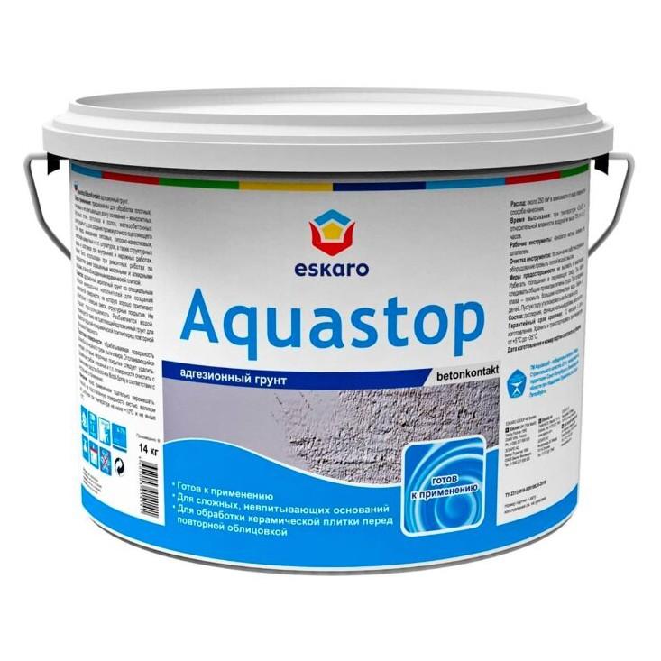 Грунтовка Eskaro Aquastop Betonkontakt адгезионная 14кг