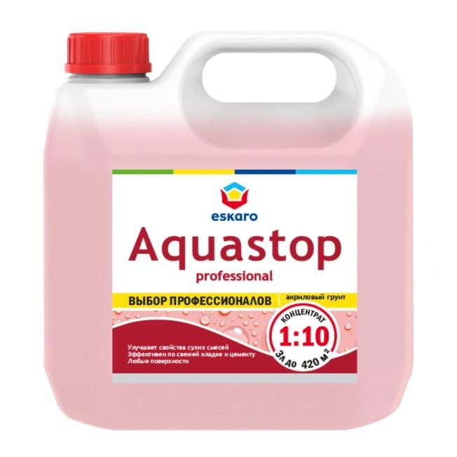 Влагоизолирующий грунт- модификатор Eskaro Aquastop Professional (концентрат 1:10) 3 л