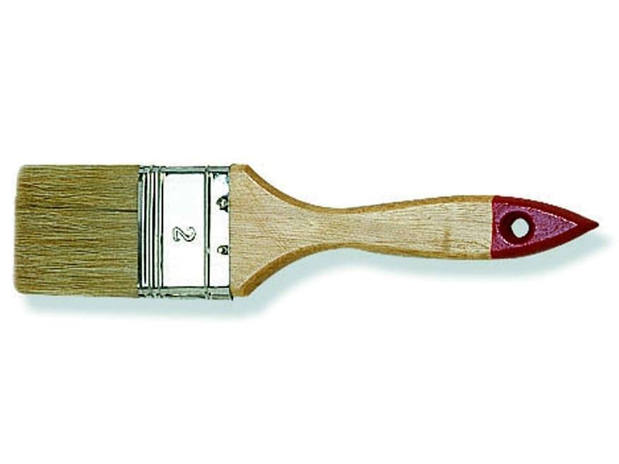 Кисть флейц 40мм. толщина 6 искусственная щетина пластик лак. ручка.