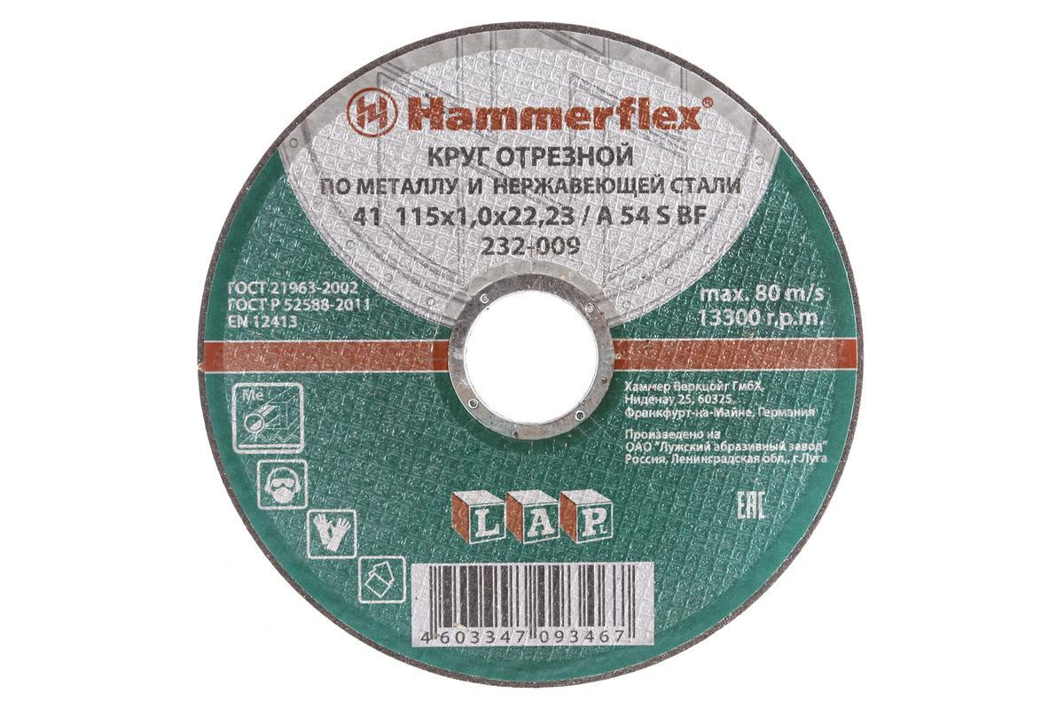Диск шлифовальный по металлу 115*6*22,23 HAMMER