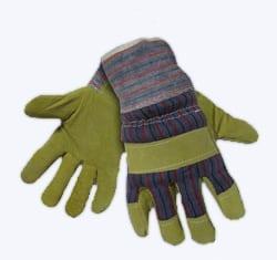 Перчатки комбинированные спилковые АНГАРА, спилок толщиной 1,4мм, манжет крага