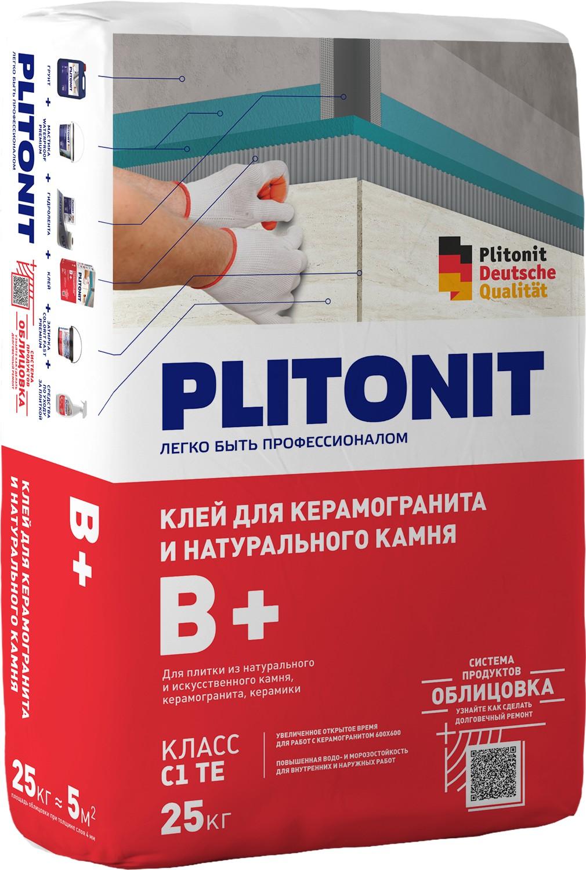 Плитонит клей для плитки В+ 25 кг