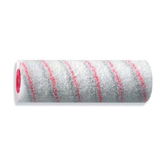 Валик 25см. ядро 60 полиамид 20 красно-серые полосы