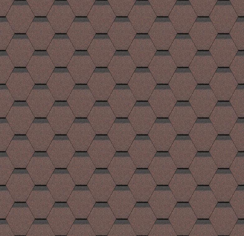Гибкая черепица Соты красный (упак.3 кв.м)