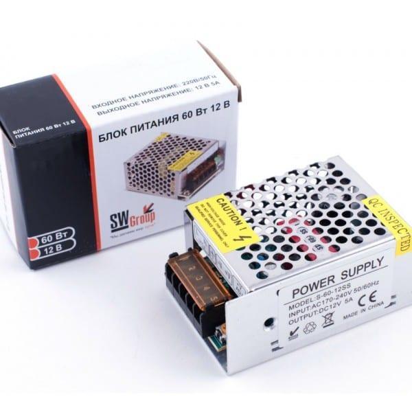 Блок питания SWG сетка 60W 12V