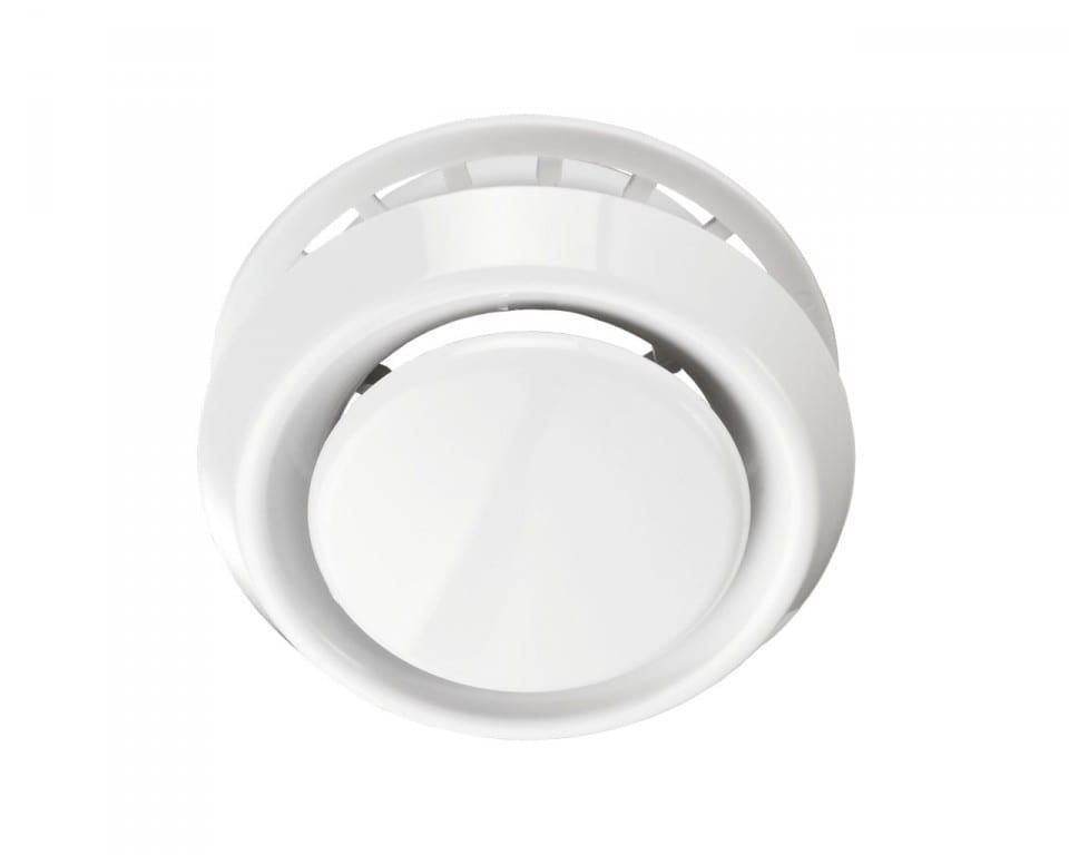 Анемостат притяжно-вытяжной с фланцем и стопорным кольцом А125ФС