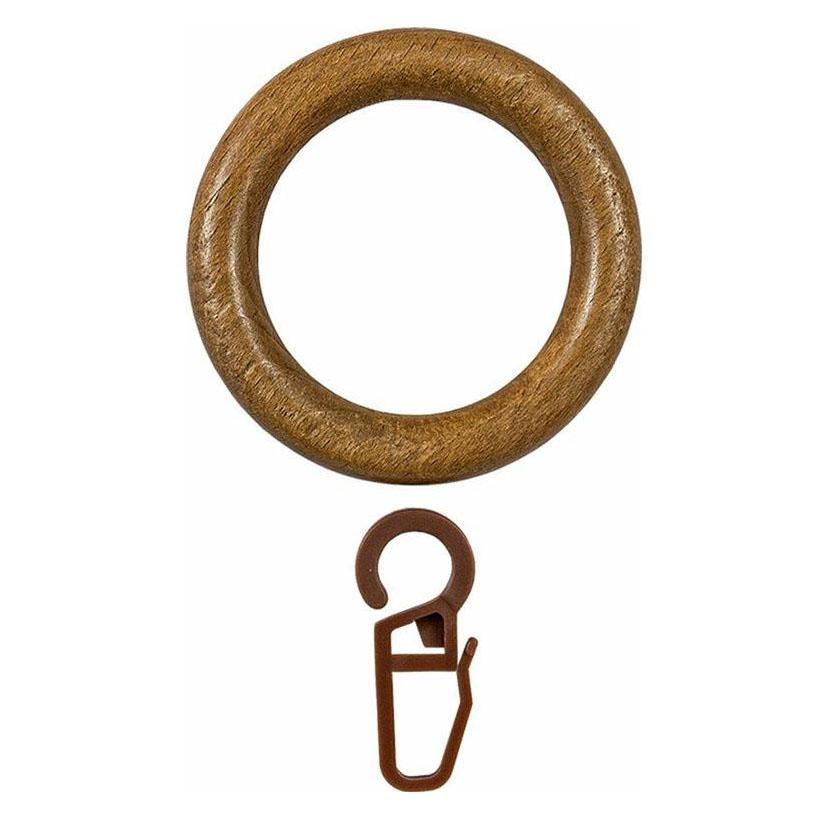 Кольцо с крючком D28, дуб