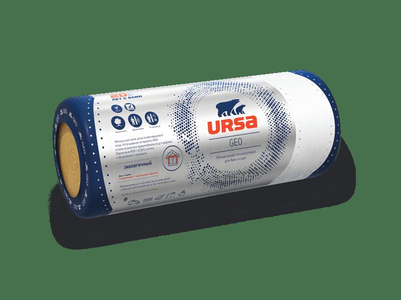 Минеральная вата URSA М-11 50*1200*12500 (0,75куб.м) фольгированная