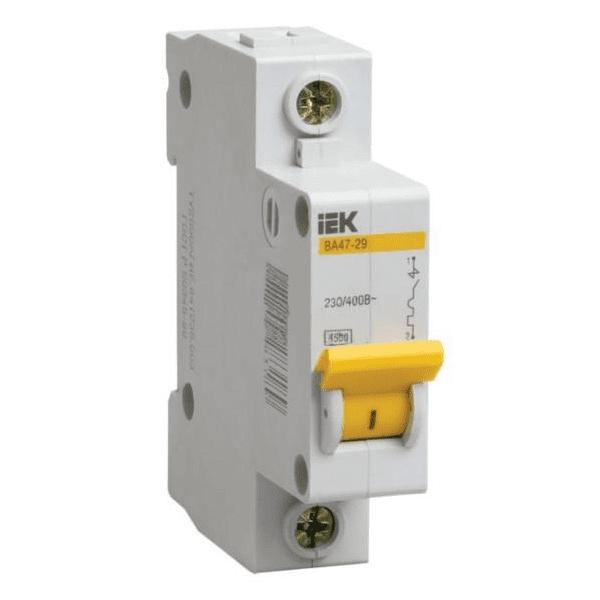 Автоматический выключатель ИЭК 1п. 10А ВА 47-29