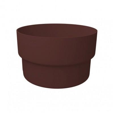 Муфта трубы соединительная ПВХ Grand Line Стандарт шоколад