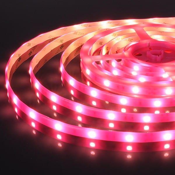 Светодиод. лента 30Led 7.2W IP65 розовый