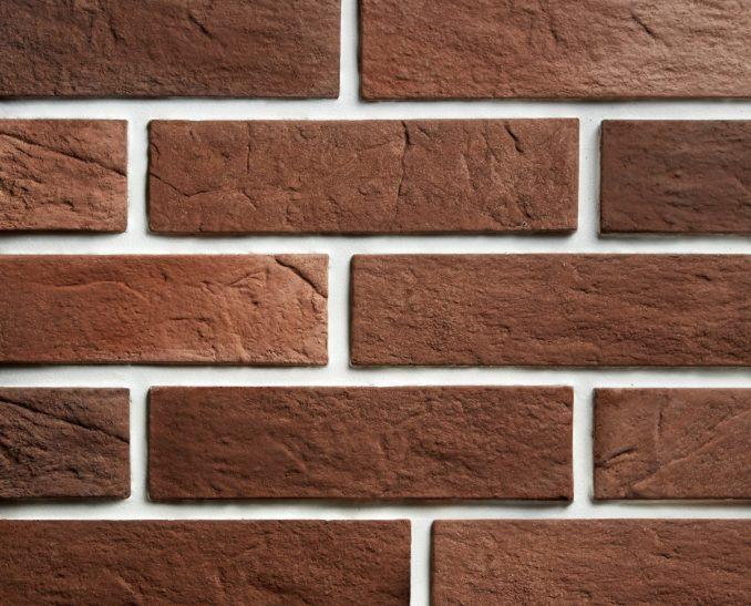 Декоративный камень Кирпич классический коричневый (1уп-50шт-0,9м2), размер 23*6,3*1,2см