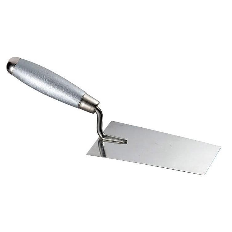 Кельма каменщика 160*84*64мм из нержавеющей стали с деревянной ручкой