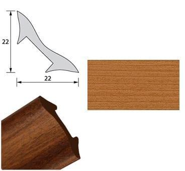 Галтель NL22 темная вишня 2,7м