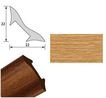 Галтель NL22 дуб 2,7м