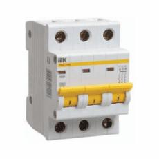 Автоматический выключатель ИЭК 3п. 20А ВА 47-29