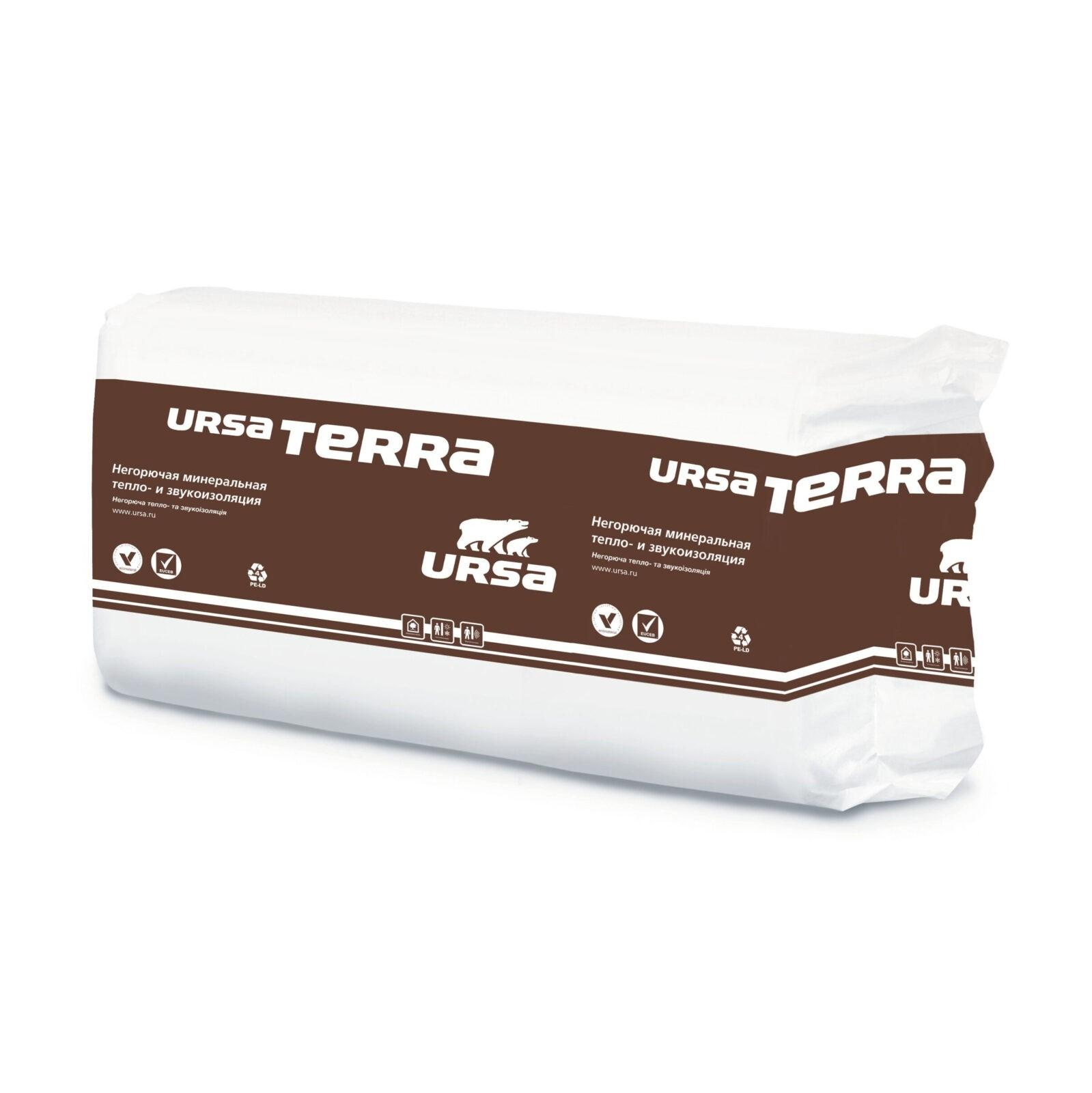 Минеральная изоляция URSA TERRA 37PN 1250-610-100(0,7625м3/7,625м2)