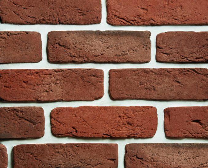Декоративный камень Кирпич СТАРЫЙ красный (1уп-52шт-0,9м2), размер 23*6,3*1,2см