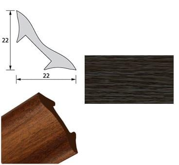 Галтель NL22 Венге чёрный 2,7м
