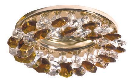 Светильник Imex Золото Хрусталь прозрачный янтарный (0017.1270)