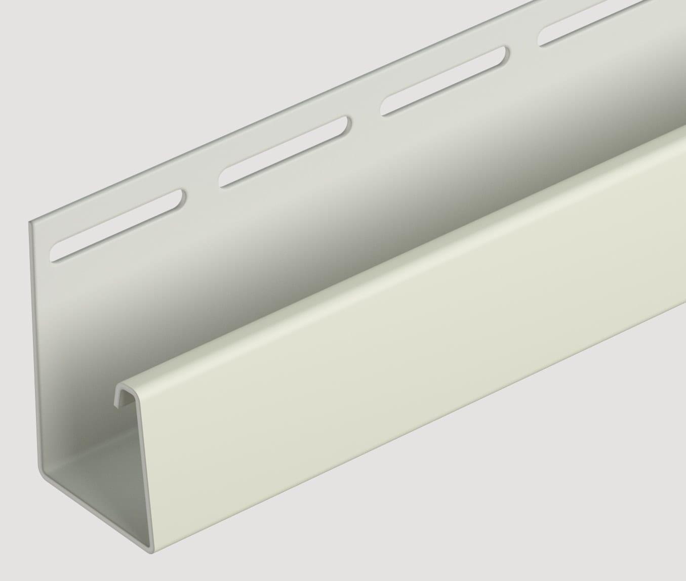 Фасадный J-профиль (слоновая кость) 3050 мм.