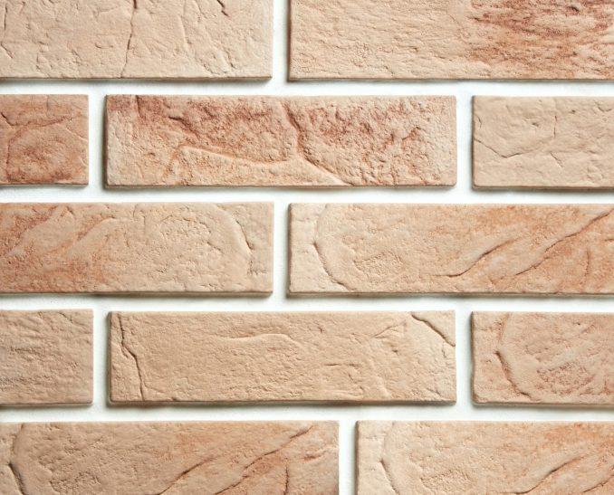 Декоративный камень Кирпич классический бежевый (1уп-50шт-0,9м2), размер 23*6,3*1,2см