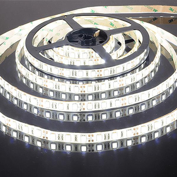 Светод.лента 5050 30 LED IP20 DC 12V 7,2W белая