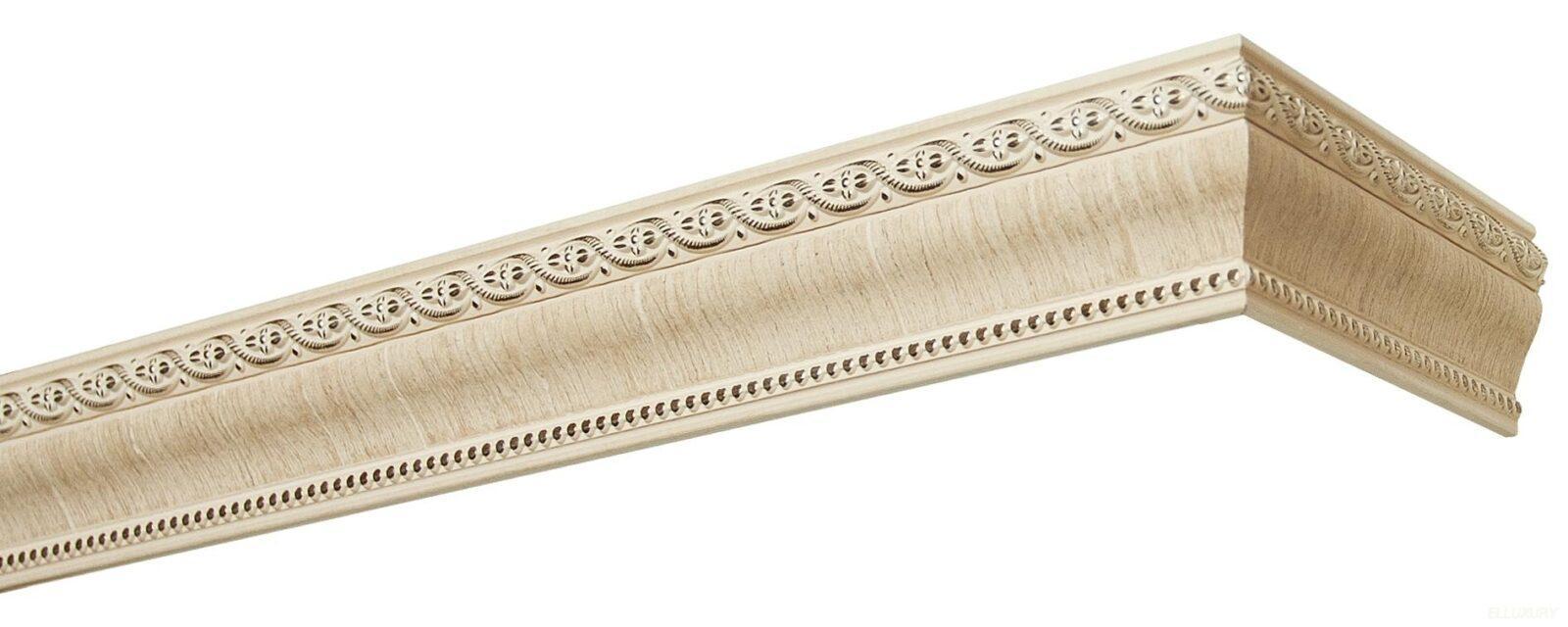 Комплект боковин для карниза Пиано 2026Б беленый дуб 60мм